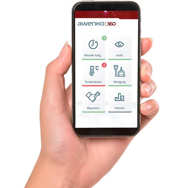 Awenko::360 QMS auf Smartphone