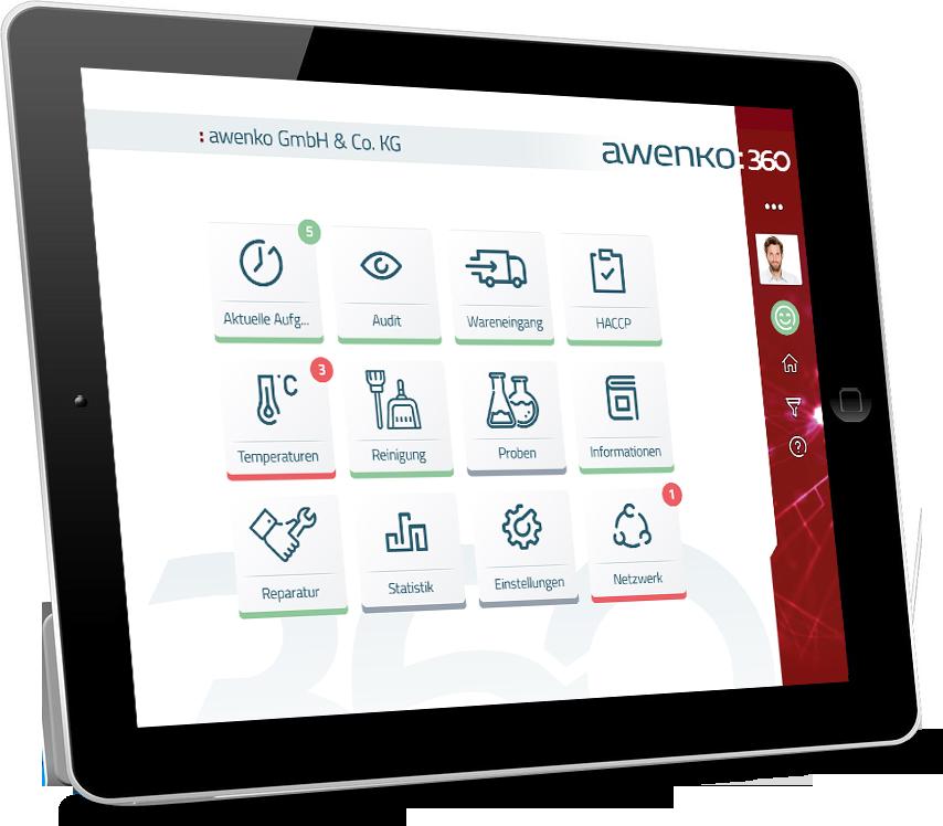 qualitätsmanagement software auf Tablet